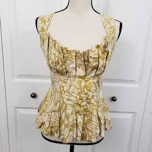 Tracy Reese  Silk Blend Crumb Catcher Top Size 4